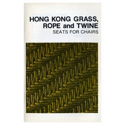 Hong Kong Grass, Rope and Twine Seats for Chairs By Ruth Comstock